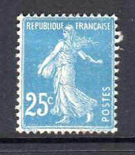 France 1921 25c blue Sower typeII  top of 2 round vf MINT  SG 339b