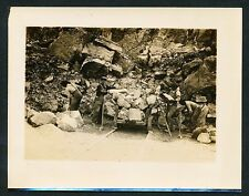 1905 STONE QUARRY, INTEGRATED LABORERS Vintage Photo