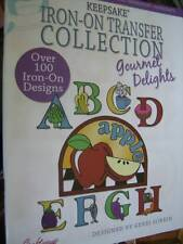 Keepsake Iron-On Transfer Collection Gourmet Delights Book -100+ Designs- Food,