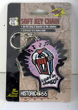 """Cobbs Route 66 50'S Retro Look """"Drop A Quarter In The Jukebox"""" Soft Key Chain"""