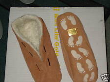 Hausschuhe Größe 38  Pantoffeln Hüttenschuhe Puschen Braun No-Name, Wildleder