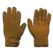 Brown Patrol Police Neoprene Water Resistant Tactical Gloves Glove Pair M - 2XL