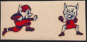 University of Arizona _RARE ORIG 40's Decal VTG NCAA Wildcats Football / Boxing