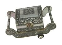Unique Indian Traditional Jewelry Wooden Velvet Fitted Box Nice Décor i71-526