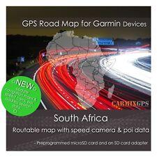 2019 South Africa City Road Maps - microSD-SD Card for Garmin GPS Navigator
