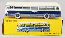 1 / 43 ème DINKY TOYS  AUTOCAR CHAUSSON bleu / jouet ancien