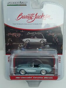 Greenlight 1/64 Barrett JACKSON. Chevrolet Corvette. New IN Box