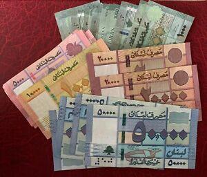 29 Pieces Lebanon 1000-5000-10000-20000-50000 Livres 292000 Livres   - VF / XF -
