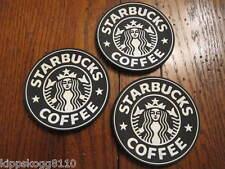 3 Starbucks Drink Coasters Black - New - Free Ship from US Coffee Mug Cup Car