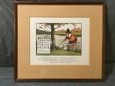 Chas. Crombie Rule of Golf XXXII Print Matted & Framed