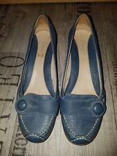 CLARKS Schuhe Gr. 37,5 / 4 1/2  blau - weiches Leder - 2x getragen
