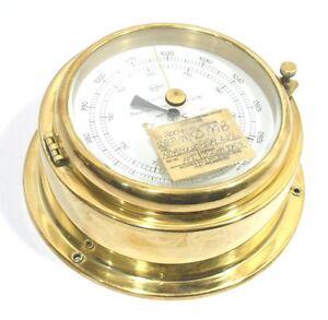 Vintage Barigo Barometer Brass Made in Germany