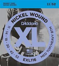 D'Addario EXL116 Electric Guitar Strings Medium Top / Heavy Bottom 11-52