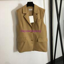 2021 Letter Embroidered Pocket Waistcoat Blazer Khaki Black SML