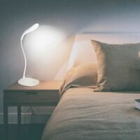 LED Folding Desk Lamp With USB Charging Port Home Office Dimmable Lighting Lamp