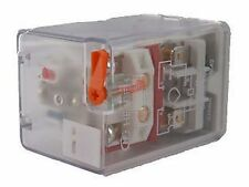 HF10FH 2Z 2 POLE 10A RELAY 8 PIN ROUND BASE LOT 10 WITH TEST/INDICATION 120VAC