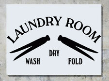 Laundry - Wash Dry Fold Wall Decal Art Sticker Picture