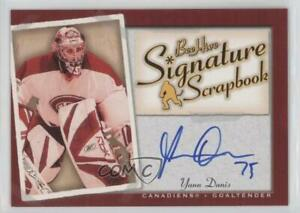 2005-06 Upper Deck Bee Hive Signature Scrapbook Yann Danis #SS-YD Rookie Auto