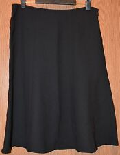 Womens Long Black George Flat Front Skirt Size 16 NWT NEW