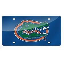 Florida Gators Blue Mirrored Laser Cut License Plate Laser Tag