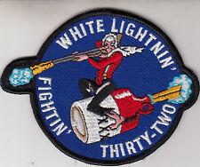 VFA-32 SWORDSMEN WHITE LIGHTNIN' PATCH