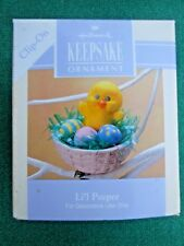 HALLMARK 1993 EASTER Li'l Peeper BABY CHICK CLIP-ON ORNAMENT Easter Tree-NIB+pt
