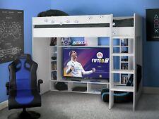 Argos Home White Gaming High Sleeper Bed Frame