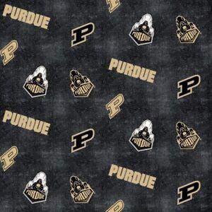 Purdue University Fat Quarter-NCAA Collegiate Cotton Flannel Fabric-PU1152