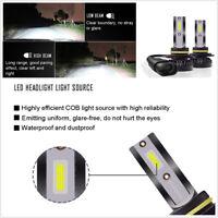 2 Pcs 9006 HB4 White LED 40W Car Headlight Bulbs Hi/Lo Beam Light Kit Flip Chip