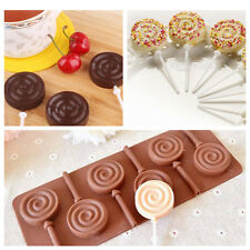 For Candy Chocolate Lollipop Cake Mold Soap Mold Flexible Silicone Mould