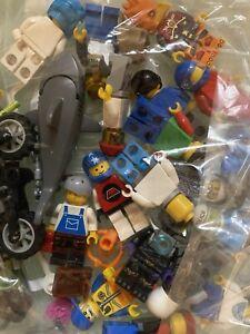 Lego Genuine Minifigures  10x Random Figures & 10x Accessories