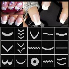 15sheet/set Nail Art Transfer Stickers 3D Design Manicure Tips Decal Decor Fad&H
