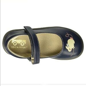 SEE KAI RUN Toddler 4 Avon navy blue Mouse Mary Jane shoes flats Baby leather