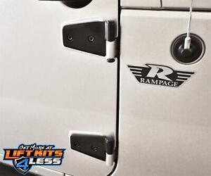 Rampage 87641 Door Hinges for 2007-2018 Jeep Wrangler 2-Door/4-Door (JK)