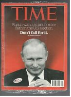 New Sealed Time Magazine October 10 2016 Wladimir Putin Russia Don'T Fall For