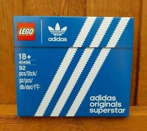 LEGO 40486 ADIDAS ORIGINALS SUPERSTAR MINI TRAINER SNEAKER BRAND NEW SEALED