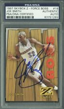 Warriors Joe Smith Authentic Signed Card 1997 Skybox Z-Force #18 PSA/DNA Slabbed