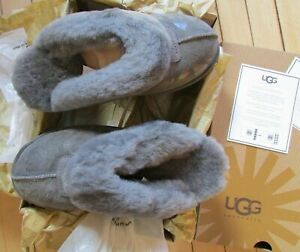 UGG Slipper Shoes Coquette Leopard Fits Women Size 6 - 6.5 Grey