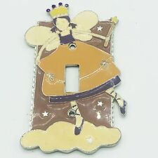 Pink Princess Fairy Metal Light Switch Cover