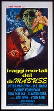 CINEMA-locandina I RAGGI MORTALI DEL DR. MABUSE van eyck,hasse,FREGONESE