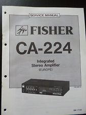ORIGINALI service manual Fisher Integrated Stereo Amplifier ca-224