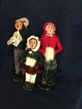Lot of 3 Vintage Byer's Choice Christmas Xmas Carolers Figures '86 ,'88 And '93