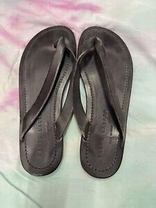 Ralph Lauren Purple Label Leather Sandal Flip Flop black 9.5 | polo RRL |