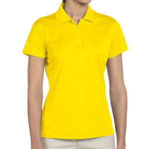 Adidas Golf Women's Climalite Jacquard Solid Polo Golf Shirt, Brand New