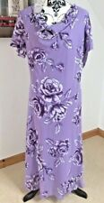 Emma Blake Size 16 Midi Dress Purple Lilac Floral Long Chiffon Wedding Guest