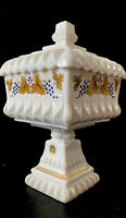 VNTG Westmoreland Milk Glass Wedding Jar Covered Compote Candy Dish Lid Bowl