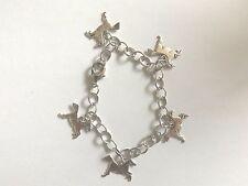 bracelet argenté brillant 19,5 cm 5 chevaux 15x19mm