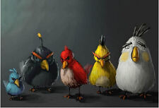 A4 Poster - Angry Birds (Gaming Picture Print XBOX ONE 360 PS4 PS3 Wii Art)