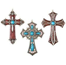Western Theme Decorations Religious Wall Cross Hanging Christian Crucifix 3-Pc