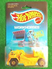 1986 Vintage Hot Wheels Workhorses Cat Earth Mover. New Model, NIP, HTF!